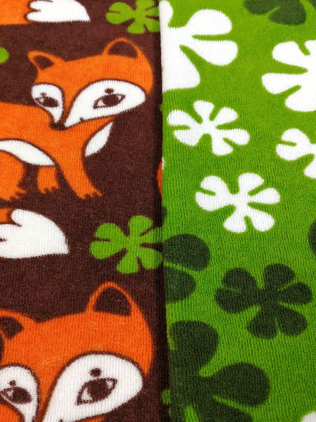 UUSI väri Vihreä Ketunleipä-joustofrotee  Fox stretch frotte ... 8ae1e4f34f